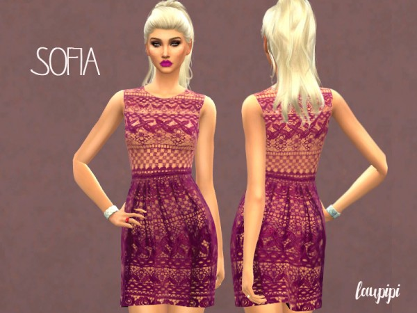 The Sims Resource: Sofia dress by laupipi