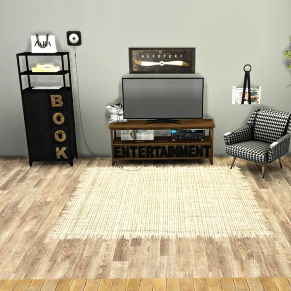 Leo 4 Sims: Tv Stand and Bookshelf