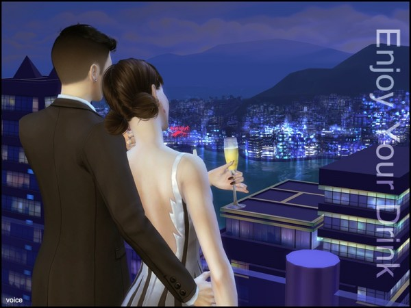 The Sims Resource: Voice   Enjoy Your Drink Pose by lancangzuo114