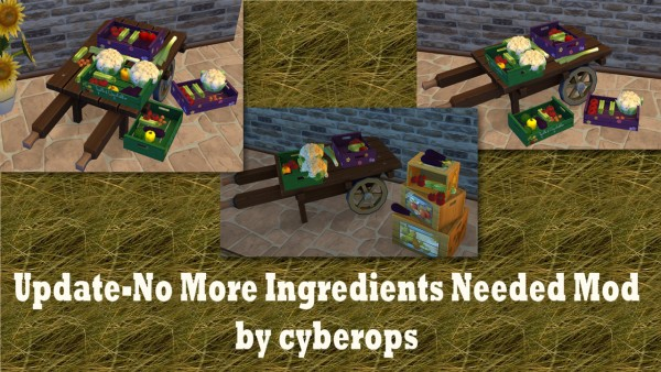 Mod The Sims: No More ingredients needed mod by catalina 45