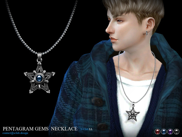 The Sims Resource: Necklace M05 by S Club