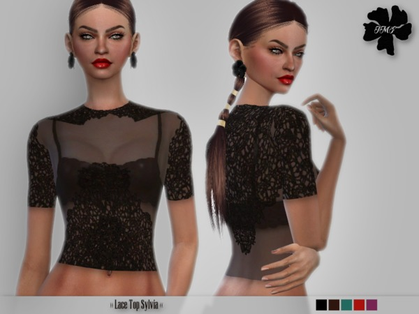 The Sims Resource: Lace Top Sylvia by IzzieMcFire