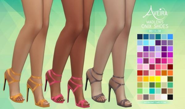 Aveira Sims 4: Madlen's Onix Shoes   Recolor