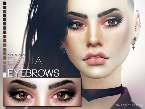 The Sims Resource: Emilia Eyebrows N102 by Pralinesims