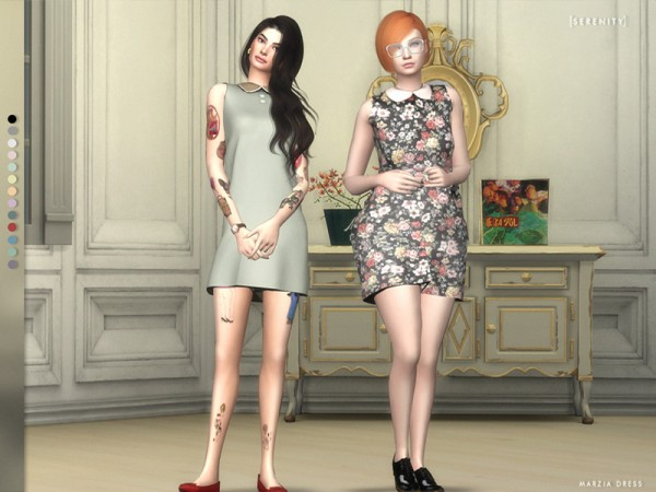 The Sims Resource: Marzia Dress by serenity cc