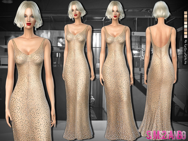 The Sims Resource: 254   Marilyn Monroe Birthday Dress by Sims2fanbg