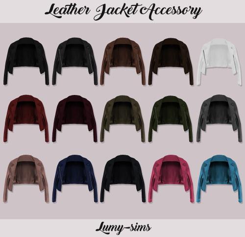 LumySims: Leather Jacket  Accessory