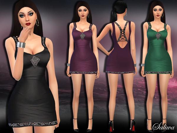 The Sims Resource: Soul Glitter Dress by Saliwa