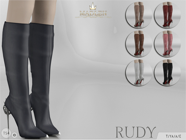The Sims Resource: Madlen Rudy Boots by MJ85