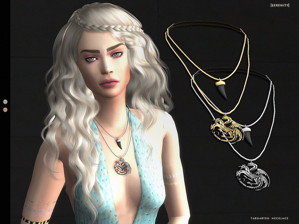 The Sims Resource: Baddie Necklace by GrafitySims