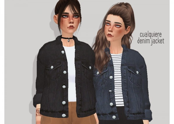 Pure Sims Denim Jacket Sims 4 Downloads