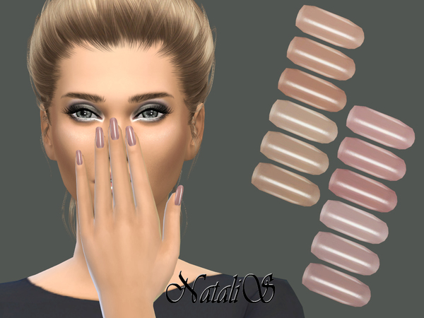 The Sims Resource: Pastel Pearl Nails Collection by NataliS