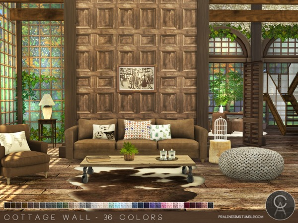 The Sims Resource: Cottage Wall by Pralinesims