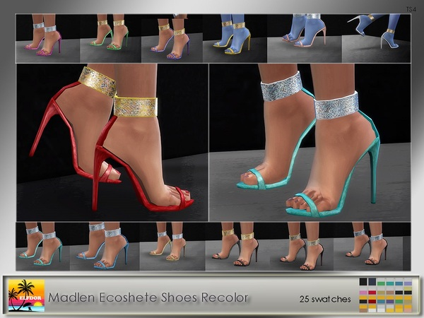 The Sims Resource: Madlen Ecoshete Shoes Recolor by Eldorf