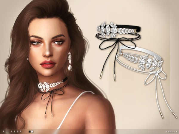The Sims Resource: Flitter Choker by toksik