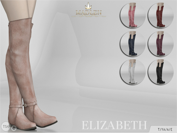 The Sims Resource: Madlen Elizabeth Boots by MJ95