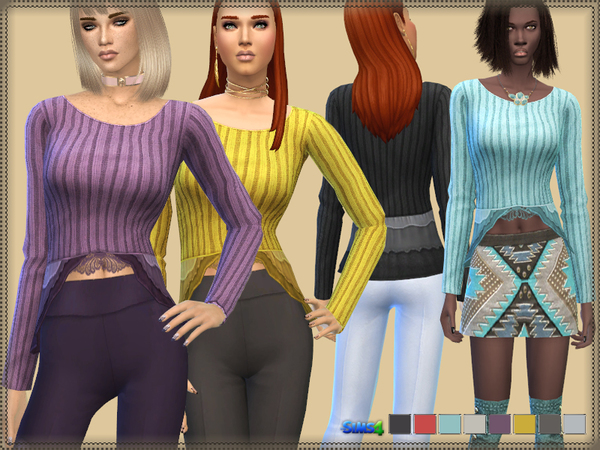 The Sims Resource: Sweater Jersey Elastic by bukovka