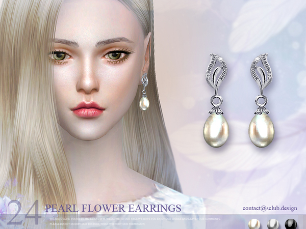 The Sims Resource: Earring 24(f) by S Club