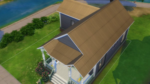 La Luna Rossa Sims: Metal Curvy Roof
