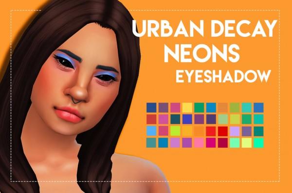Simsworkshop: Urban Decay's Neons Inspired Eyeshadow by Weepingsimmer