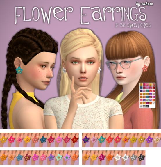 Tukete: Flower Earrings