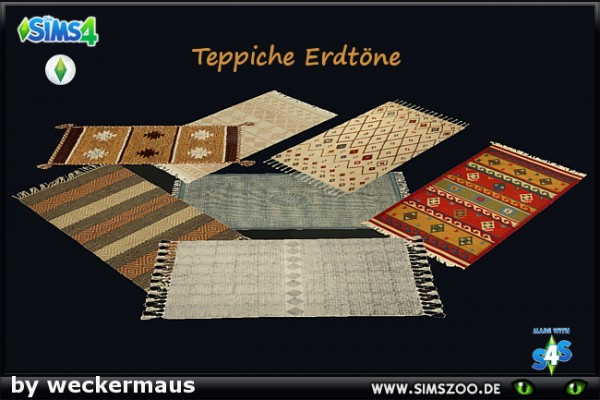 Blackys Sims 4 Zoo: Autumn Trend Carpets by weckermaus