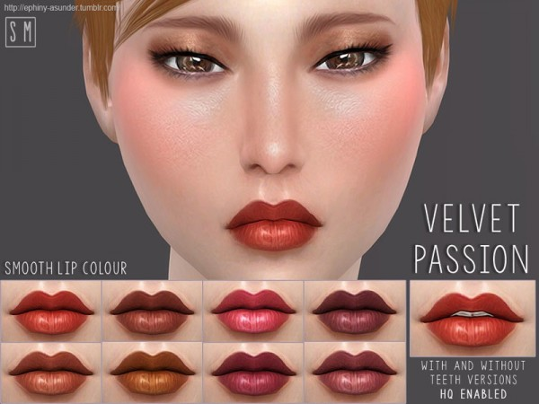 The Sims Resource: Velvet Passion   Smooth Lip Colour by Screaming Mustard