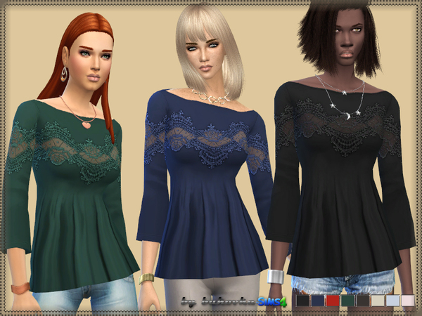 The Sims Resource: Lace Shirt by bukovka