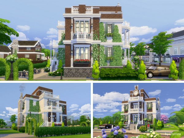 The Sims Resource: Old Brick Avenue 42   the Clock House by Lhonna