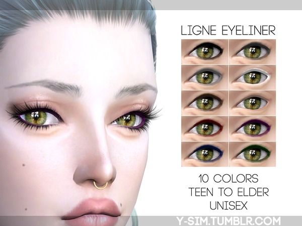 The Sims Resource: Ligne Eyeliner by Y Sims