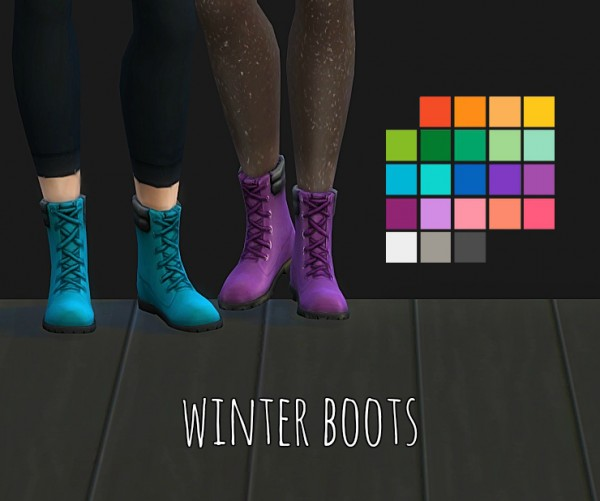 Simsworkshop: Winter boots by maimouth
