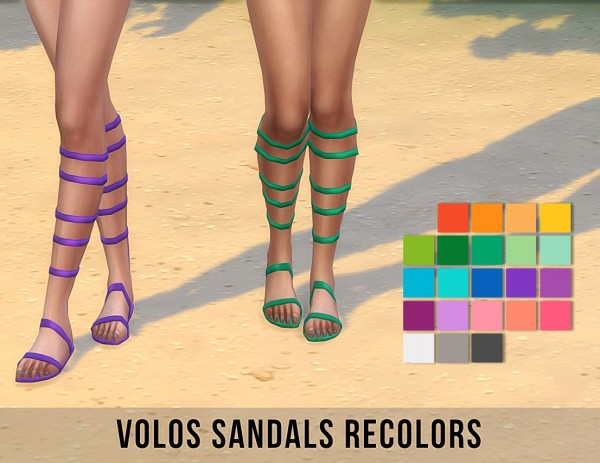 Simsworkshop: Volos Gladiator sandals by  maimouth