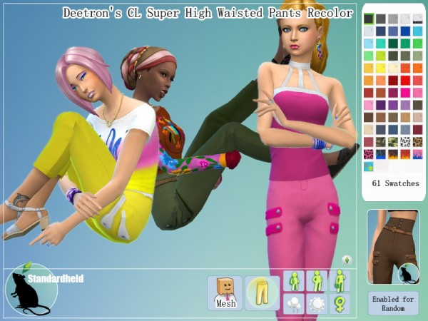 Simsworkshop: Super high waist pants by Standardheld