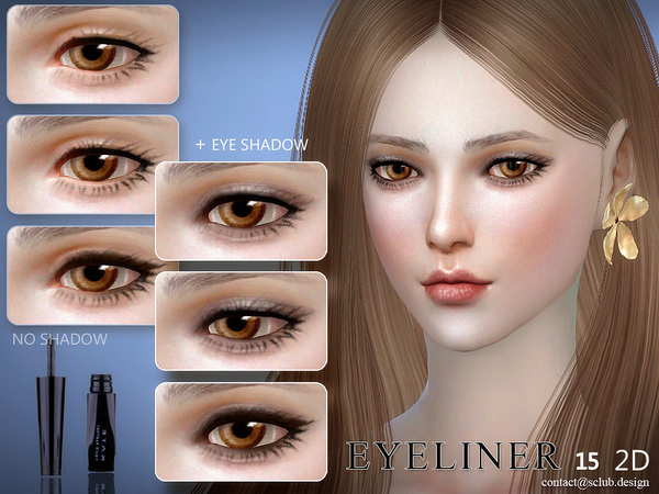 The Sims Resource: Eyeliner 15 by S Club