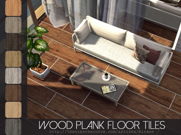 The Sims Resource: Wood Plank Floor Tiles by Rirann