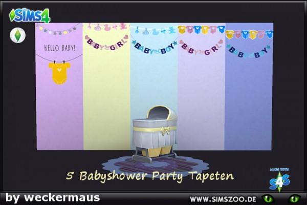 Blackys Sims Zoo: Babyshower garlands by weckermaus