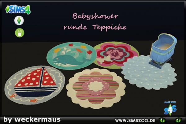 Blackys Sims 4 Zoo: Babyshower Carpets Round by weckermaus