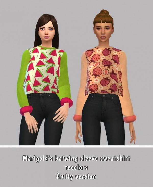 Simsworkshop: Marigolds Sweatshirt Recolors
