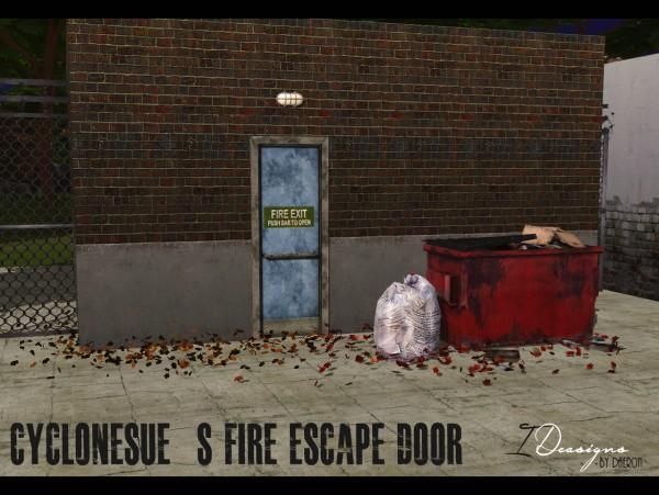 Sims 4 Designs: Cyclonesues Fire Escape Doors