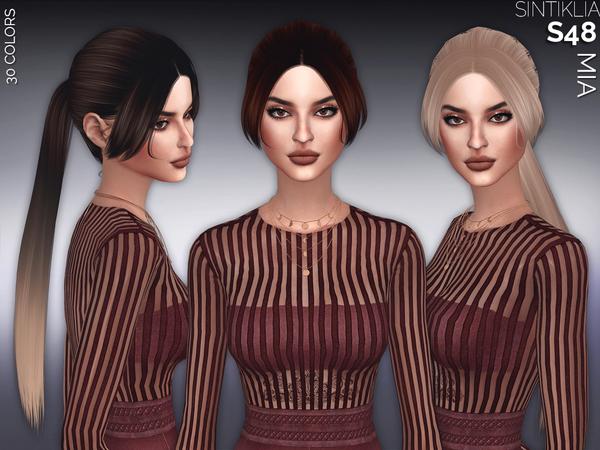 The Sims Resource: Sintiklia   Hair 48 Mia