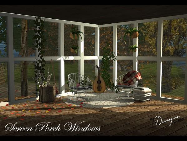 Sims 4 Designs: Screen Porch Windows