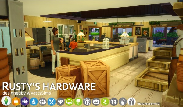 Simsworkshop: Rustys Hardware house by WyattsSims