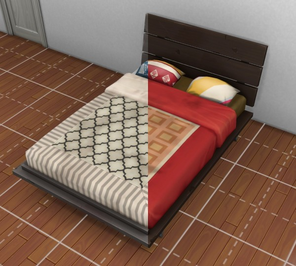 Mod The Sims: City Living Double Futon (Truly Used) by VentusMatt