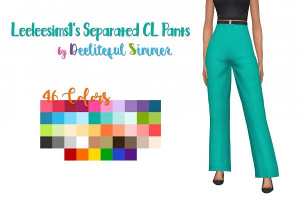 Deelitefulsimmer: Leeleesims1 Separated CL pants