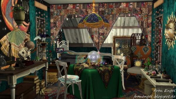 Frau Engel Fortune Tellers Wagon Sims 4 Downloads