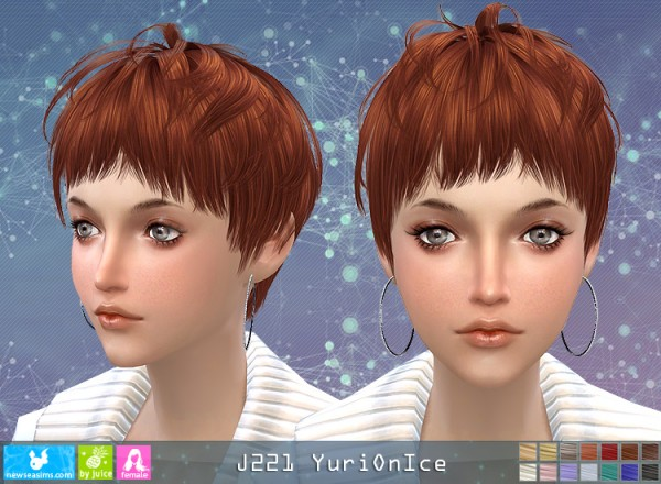NewSea: Y221 Yuri On Ice donation hairstyle for female