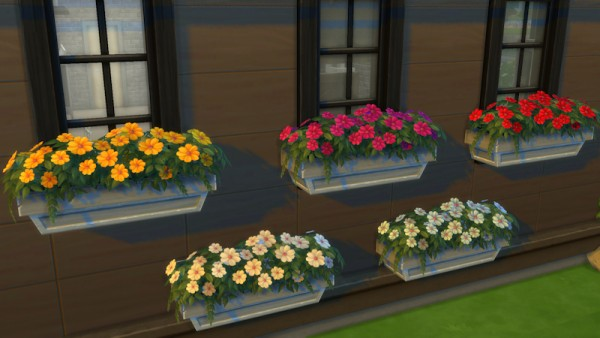 La Luna Rossa Sims: Neighborly Windowbox