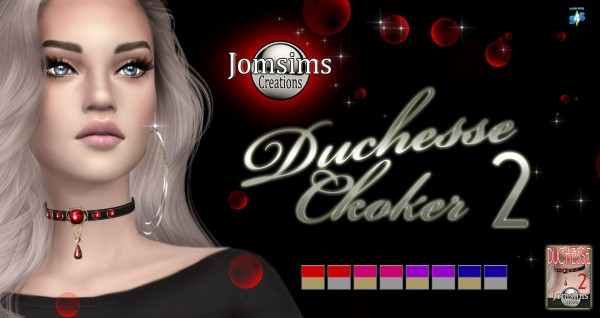 Jom Sims Creations: Duchesse choker 2