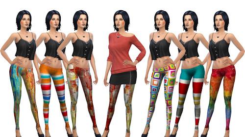 La Luna Rossa Sims: Colorful Tights