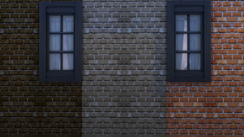 La Luna Rossa Sims: Historic Brick Wall